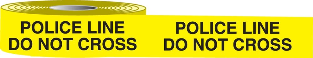 Plastic Barricade Tape: Police Line Do Not Cross