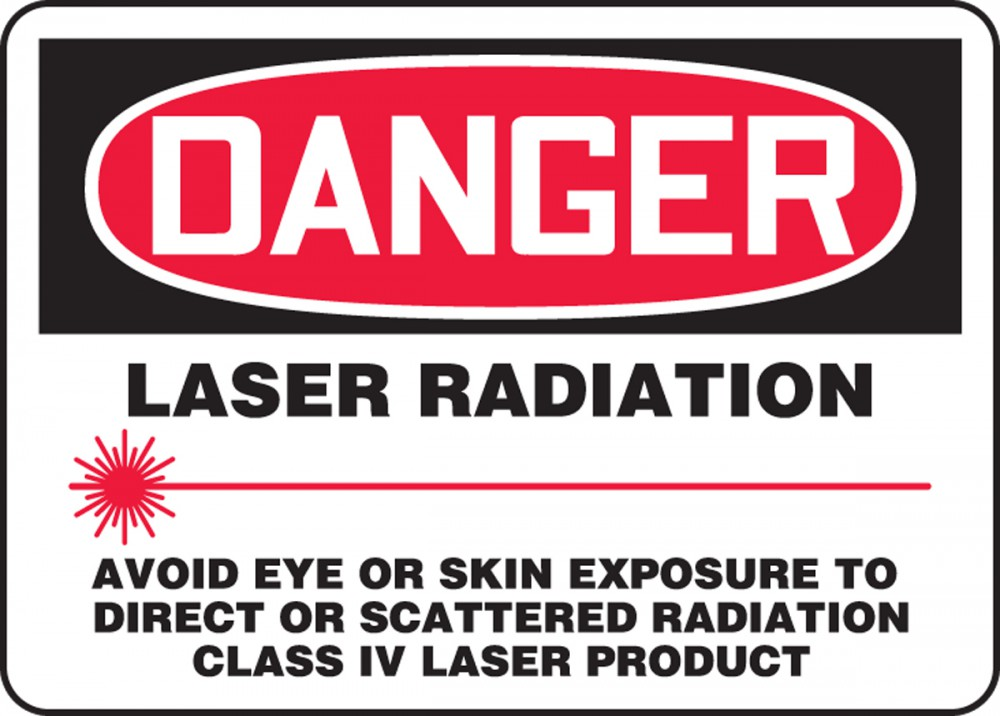 LASER RADIATION AVOID EYE OR SKIN EXPOSURE TO DIRECT OR SCATTERED RADIATION CLASS IV LASER PRODUCT (W/GRAPHIC)