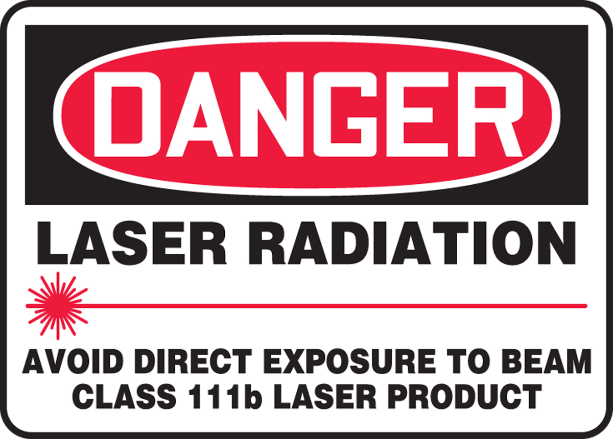 LASER RADIATION AVOID DIRECT EXPOSURE TO BEAM CLASS 111b LASER PRODUCT (W/GRAPHIC)