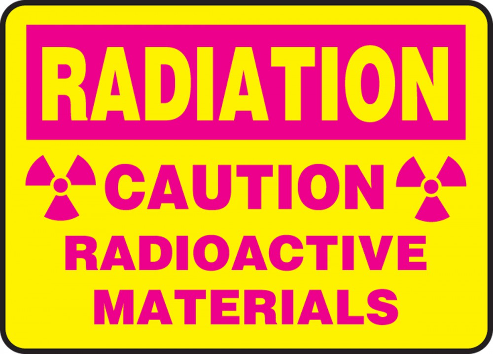 CAUTION RADIOACTIVE MATERIALS (W/GRAPHIC)