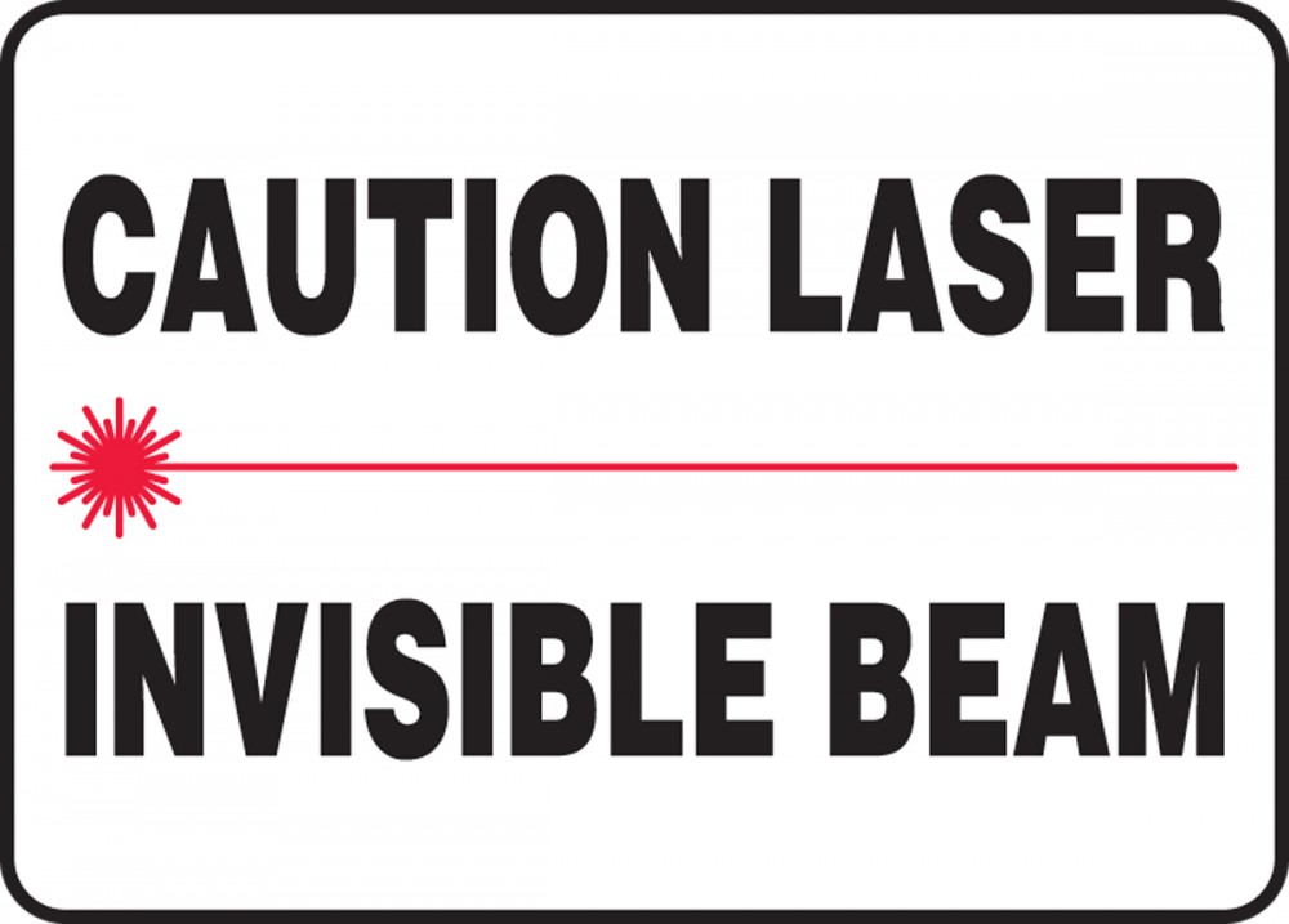 CAUTION LASER INVISIBLE BEAM (W/GRAPHIC)