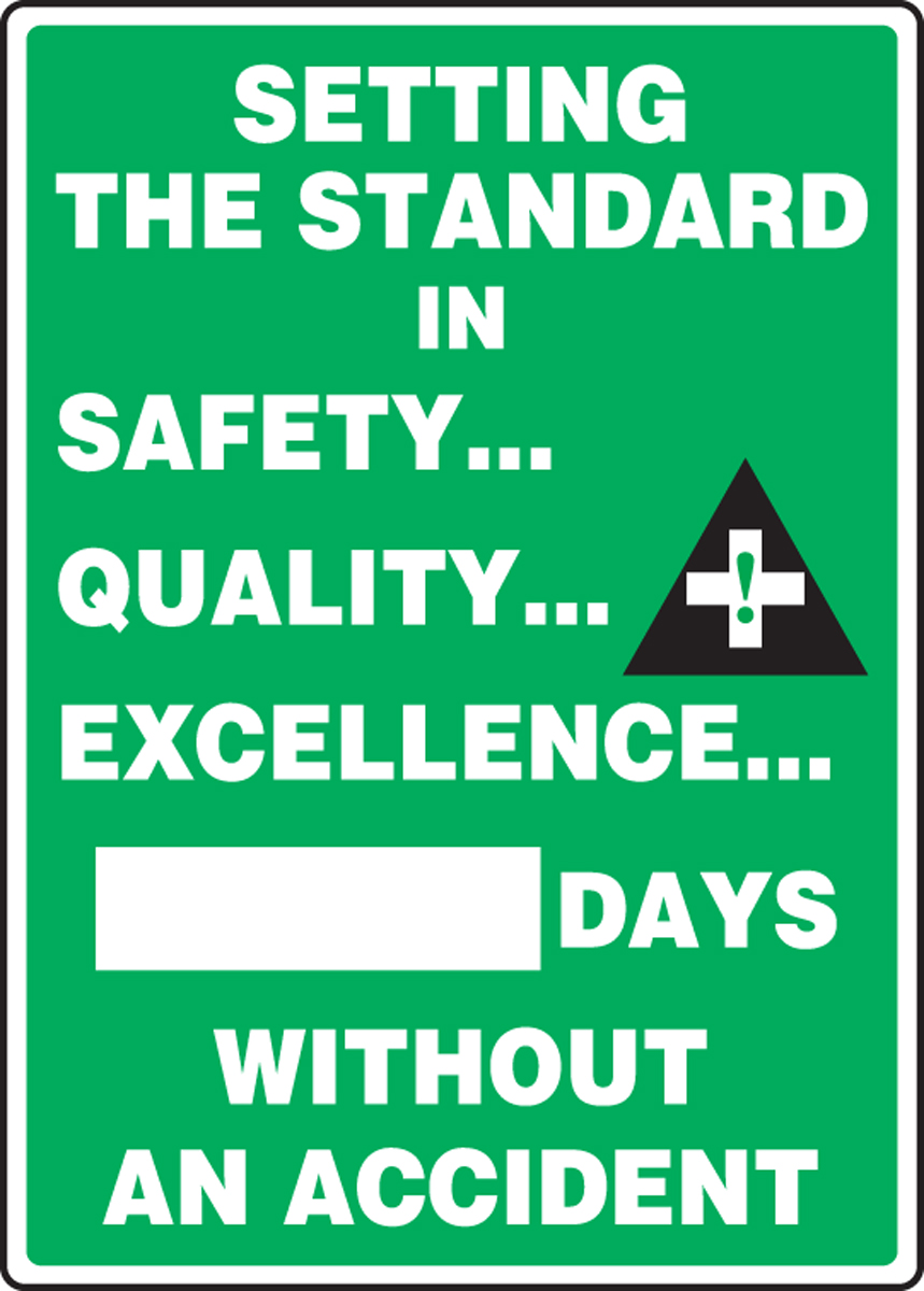 SETTING THE STANDARD IN SAFETY ... QUALITY ... EXCELLENCE ... #### DAYS WITHOUT AN ACCIDENT