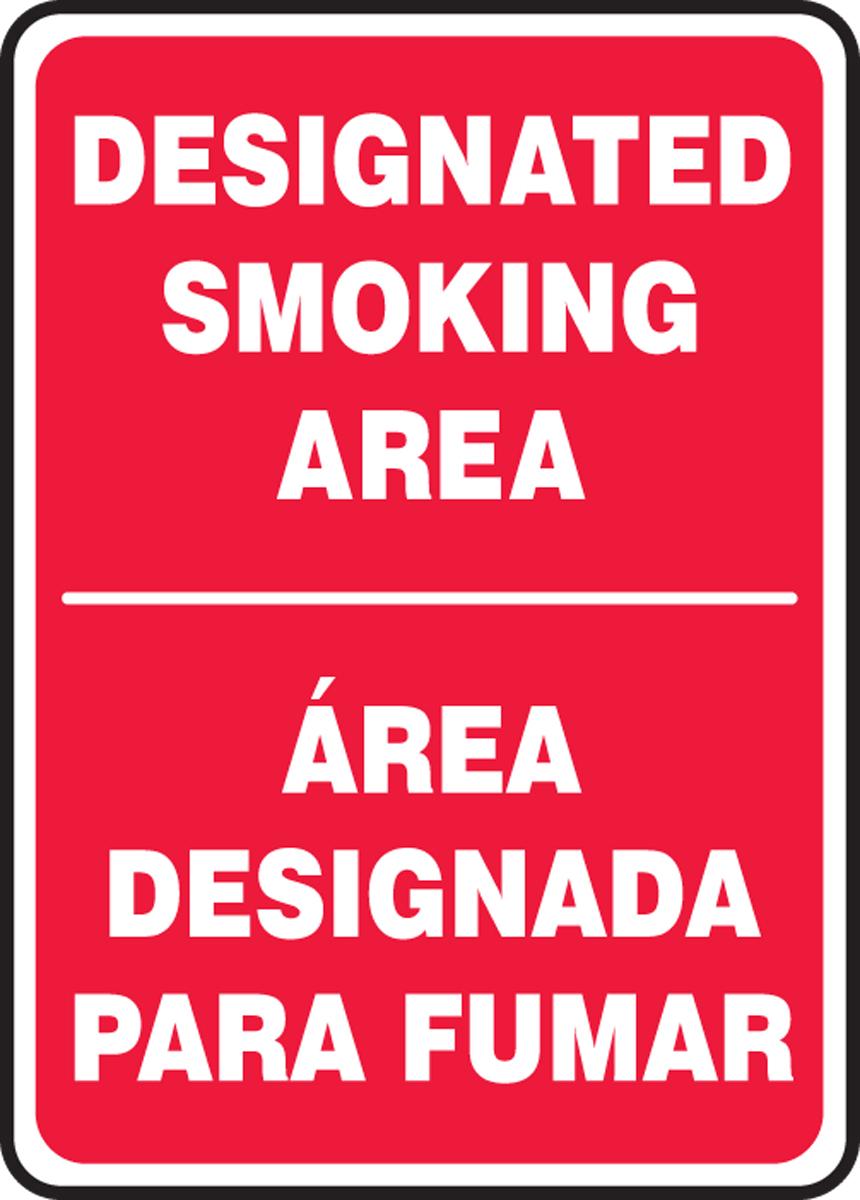 DESIGNATED SMOKING AREA (BILINGUAL)