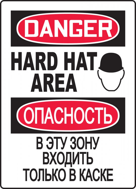 DANGER HARD HAT AREA (W/GRAPHIC)