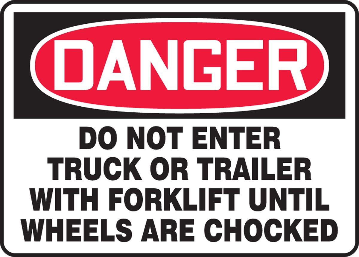OSHA Danger Safety Sign: Do Not Enter Tr... - Forklift ...