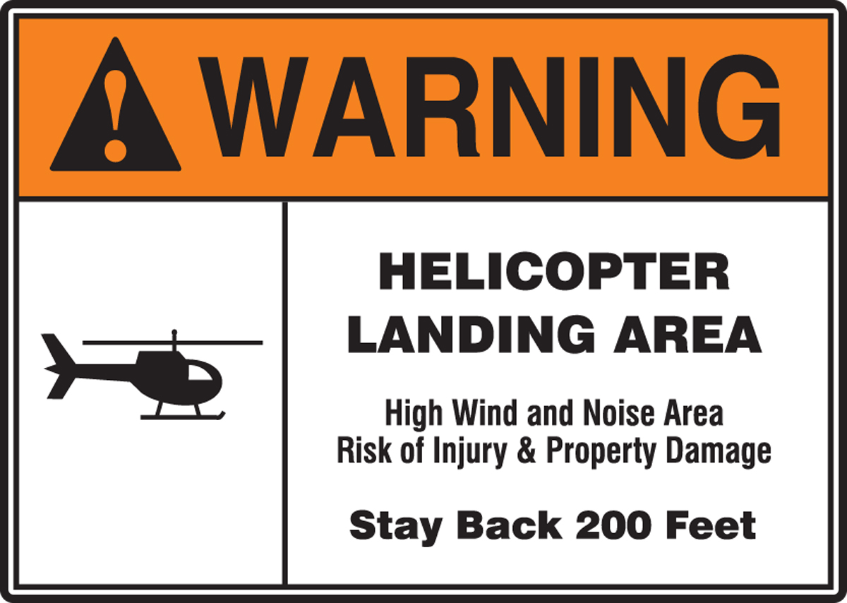 WRN HELICOPTER LANDING AREA...