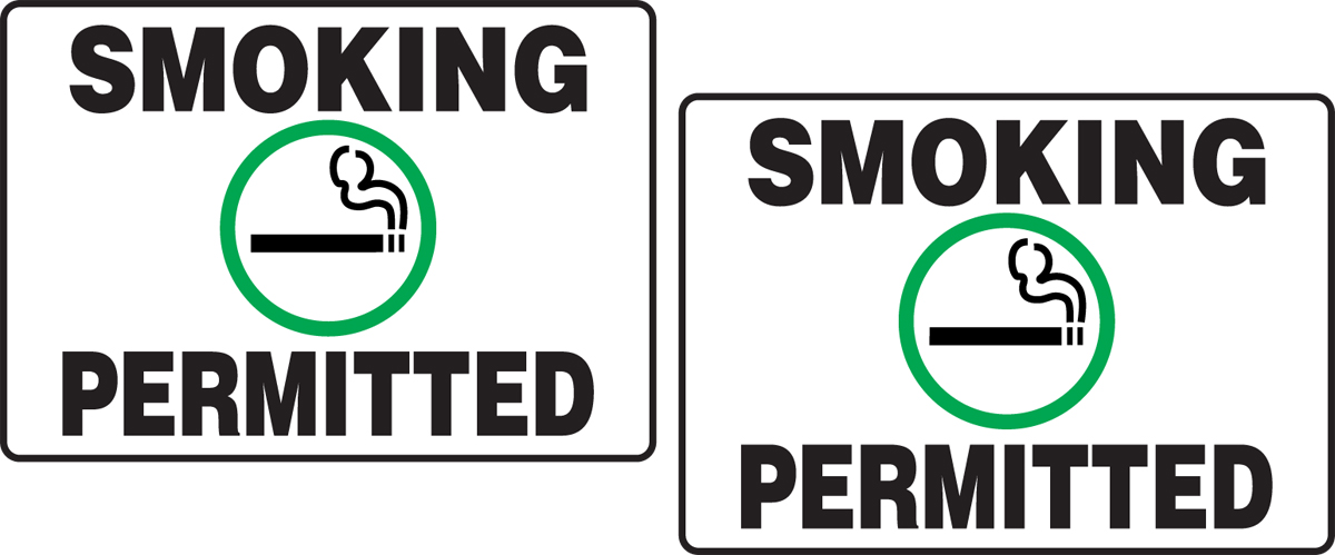 SMOKING PERMITTED W/GRAPHIC