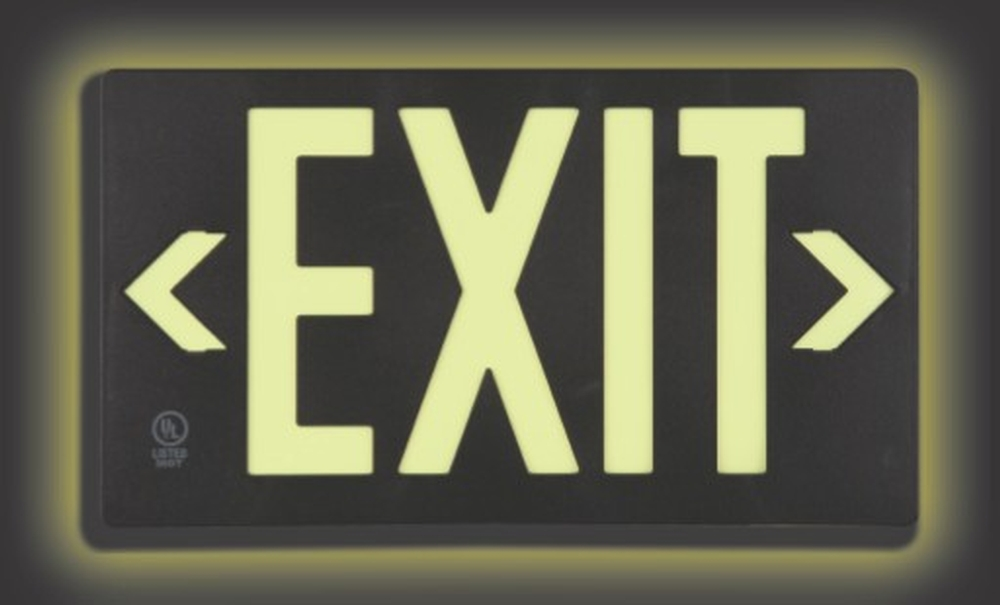 ULTRA-GLOW™ EXIT SIGN - PLASTIC CASE STYLE