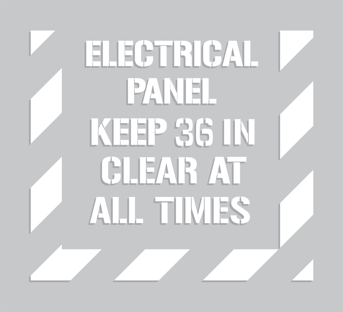 ELECTRICAL PANEL KEEP 36 IN CLEAR AT ALL TIMES