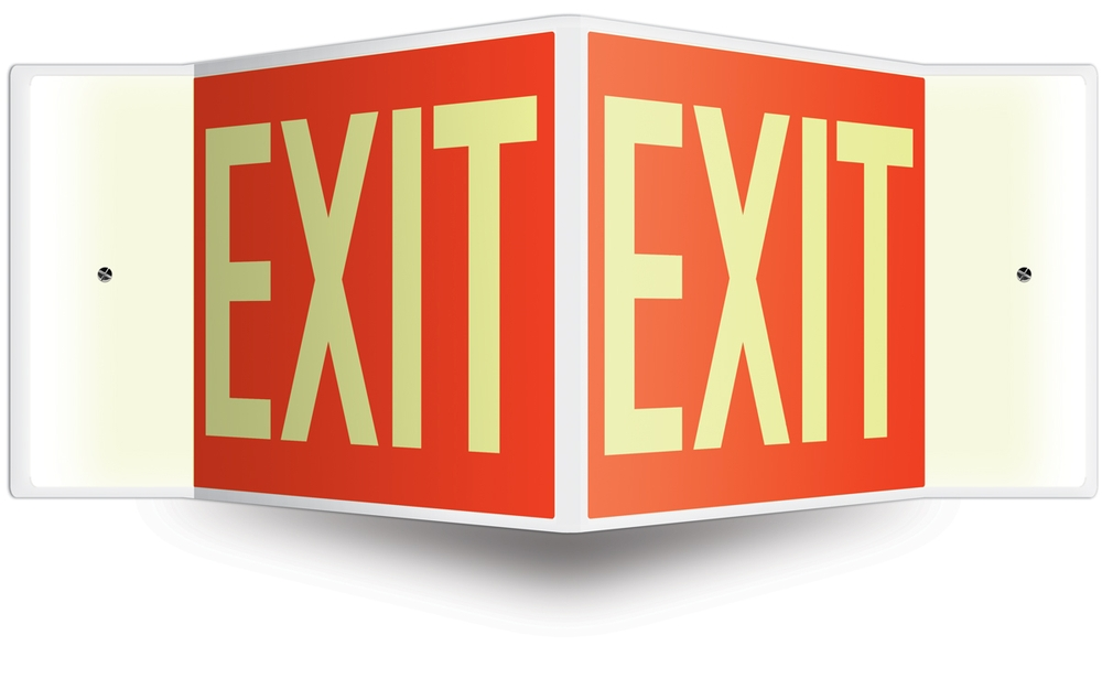 Projection™ Sign: Exit