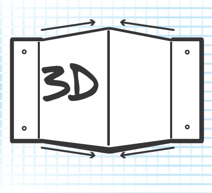 Projection Custom 3D Sign illustration