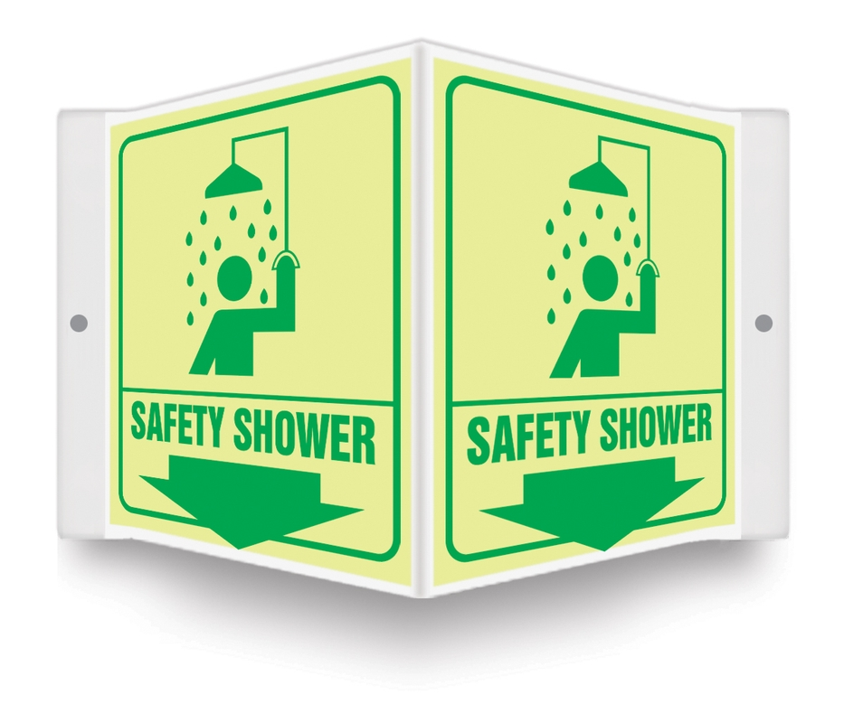 Projection™ Lumi-Glow™ Safety Sign: Safety Shower