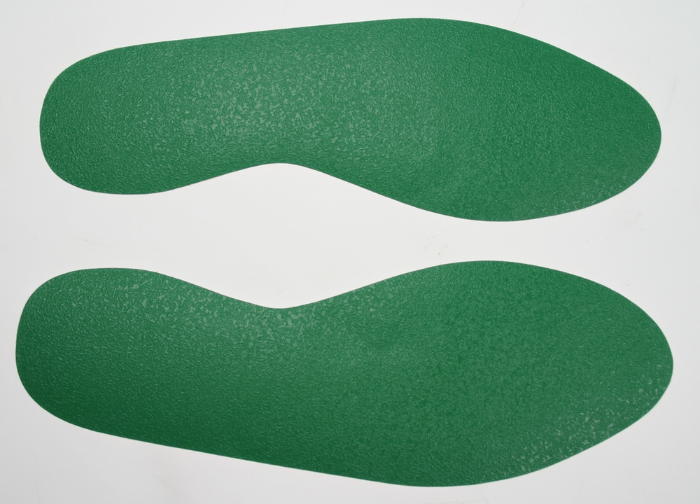 solid color adhesive footprints for floor marking