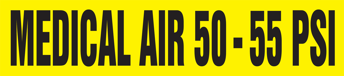 MEDICAL AIR 50 - 55 PSI