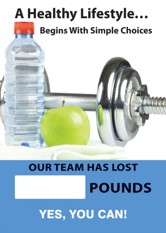 A HEALHTY LIFESTYLE ... BEGINS WITH SIMPLE CHOICES OUR TEAM HAS LOST #### POUNDS YES, YOU CAN!