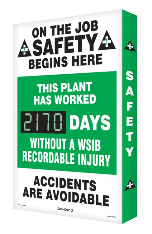 ON THE JOB SAFETY BEGINS HERE / THIS PLANT HAS WORKED #### DAYS WITHOUT A WSIB RECORDABLE INJURY / ACCIDENTS ARE AVOIDABLE