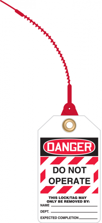 DANGER DO NOT OPERATE (LOCK OUT TAG)
