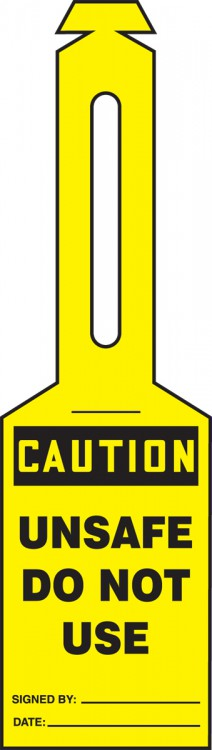 CAUTION UNSAFE DO NOT USE