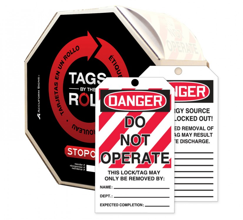 Danger Tags by the Roll Do Not Enter