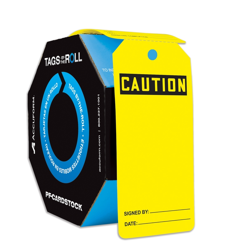 OSHA Caution SafetyTag: Tags By-The-Roll- Blank