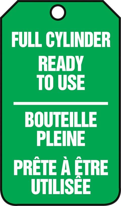 FULL CYLINDER READY TO USE (BILINGUAL FRENCH - BOUTEILLE PLEINE PRÊTE À ÊTRE UTILISÊE)