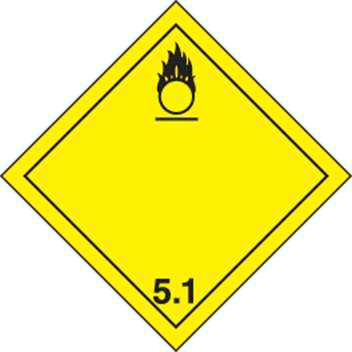 TDG PLACARD - TRANSPORTATION OF DANGEROUS GOODS