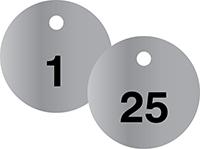 PERMA-BLACK™ STAINLESS STEEL metal numbered tags