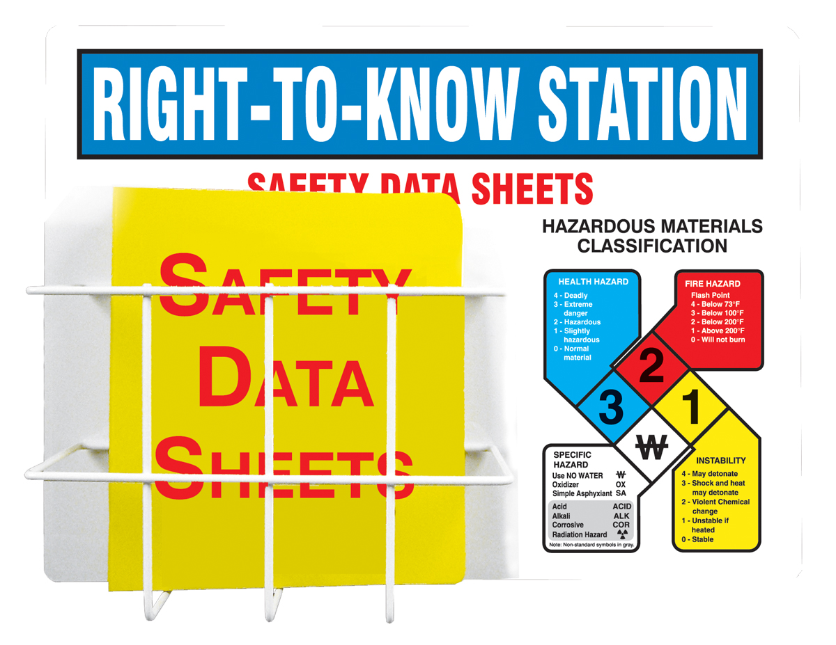 RIGHT-TO-KNOW STATION SAFETY DATA SHEETS ...
