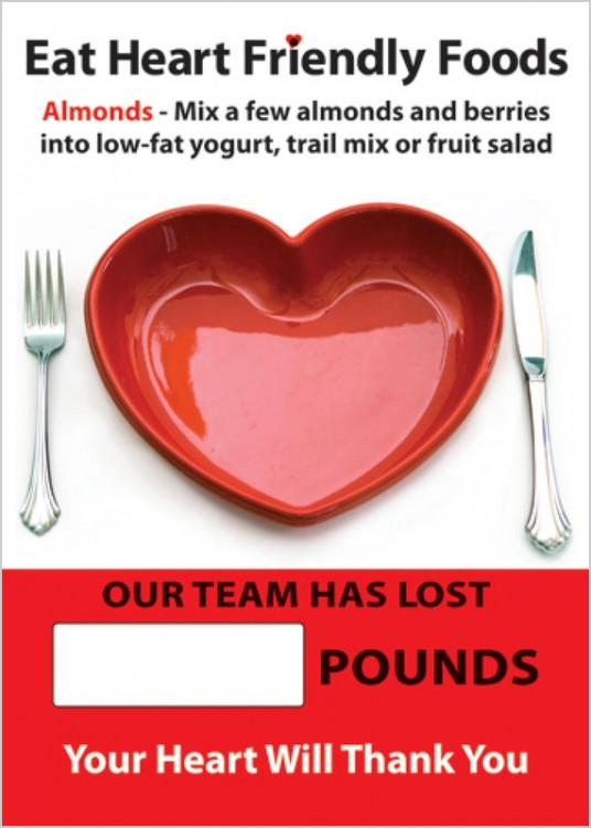WorkHealthy Digi-Day® Magnetic Faces: Eat Heart Friendly Foods - Our Team Has Lost _ Pounds - Your Heart Will Thank You