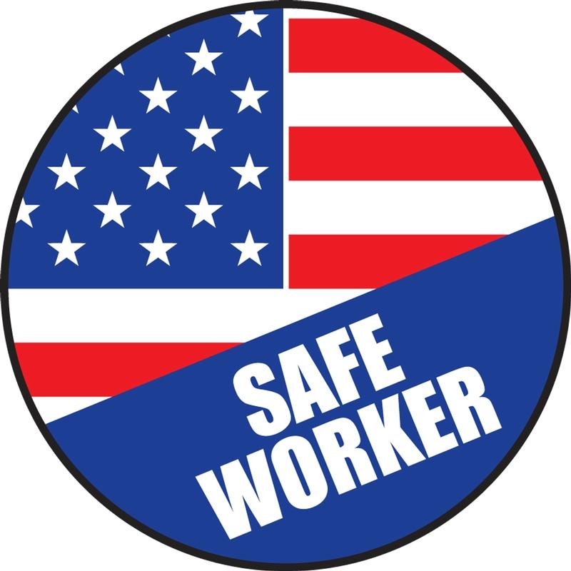 SAFE WORKER - AMERICAN FLAG