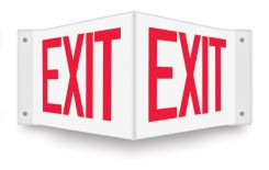 - Projection™ Safety Sign: Exit