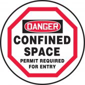 - OSHA Danger Manhole Cover Sign: Confined Space - Permit Required For Entry