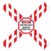 - OSHA Danger Man-Way Cross™ Barrier: Confined Space - Enter By Permit Only