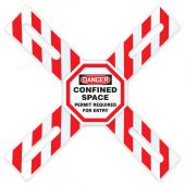 - OSHA Danger Man-Way Cross™ Barrier: Confined Space - Permit Required For Entry
