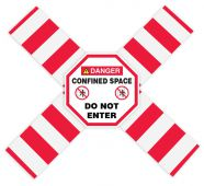 - OSHA Danger Flanged Pipe Barrier Kit: Confined Space - Do Not Enter