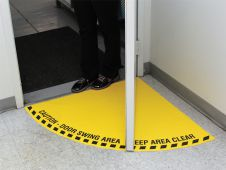 - Swing Door Floor Sign: Half Swing