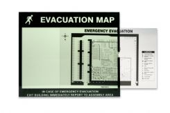evacuation - Evacuation & Severe Weather Map Holder Clear Inserts