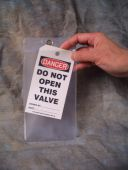 - Tag Pouch: Clear Plastic Overflap