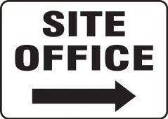 - Contractor Preferred Corrugated Plastic Signs: Site Office (Right Arrow)