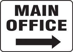 - Contractor Preferred Corrugated Plastic Signs: Main Office (Right Arrow)