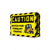 - VISUAL EDGE™ SAFETY SIGN - FORKLIFT