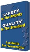 - VISUAL EDGE™ GRAPHIC SIGN - SAFETY QUALITY