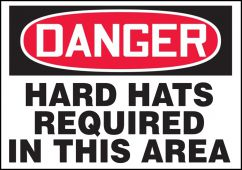 - Contractor Preferred OSHA Danger Corrugated Safety Sign: Hard Hats Required In This Area