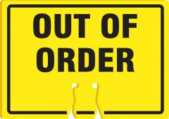 - Cone Top Warning Sign: Out Of Order