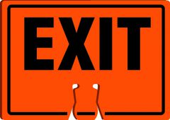 - Cone Top Warning Sign: Exit