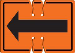 - Cone Top Warning Sign: Arrow