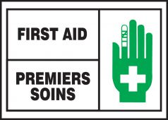 - BILINGUAL FRENCH LABEL – FIRST AID