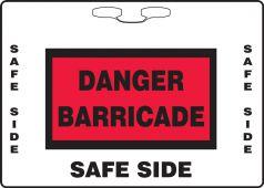 - Rope Sign: Danger Construction Barricade