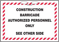 - Rope Sign: Construction Barricade