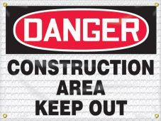 - OSHA Danger High Wind Safety Sign: Construction Area - Keep Out